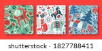 christmas seamless pattern... | Shutterstock .eps vector #1827788411