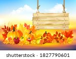 autumn colorful background.... | Shutterstock .eps vector #1827790601