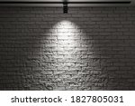 White Brick Wall With Track...