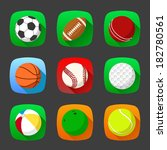 set of sport icons in flat style | Shutterstock . vector #182780561