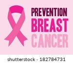 breast cancer design over pink... | Shutterstock .eps vector #182784731