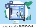 seo vector concept  young...   Shutterstock .eps vector #1827856364