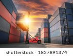 Container Ship Loading Of...