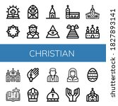 Set Of Christian Icons. Such A...