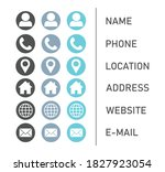 icons collection for business... | Shutterstock .eps vector #1827923054
