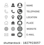 icons collection for business... | Shutterstock .eps vector #1827923057