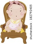 baby sitting on chair | Shutterstock . vector #182792405