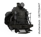 Old Steam Locomotive Isolated....