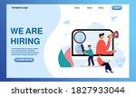 we areng hiring illustration... | Shutterstock .eps vector #1827933044