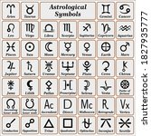astrological symbols and their...   Shutterstock .eps vector #1827935777