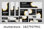 set of creative web banners of... | Shutterstock .eps vector #1827937901