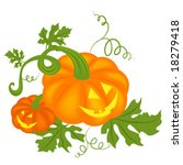 pair of happy halloween pumpkins | Shutterstock .eps vector #18279418