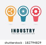 industry design over gray... | Shutterstock .eps vector #182794829