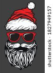 bearded santa with cool glases... | Shutterstock .eps vector #1827949157
