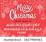 christmas font. holiday... | Shutterstock .eps vector #1827984461