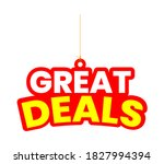great deal concept for promos.... | Shutterstock .eps vector #1827994394