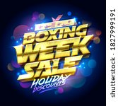 boxing week sale  holiday... | Shutterstock . vector #1827999191