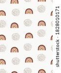 cute neutral boho rainbow...   Shutterstock .eps vector #1828010171