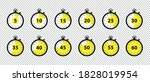 timer icons 5 minutes to 1 hour ... | Shutterstock .eps vector #1828019954