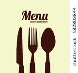menu design over beige... | Shutterstock .eps vector #182803844