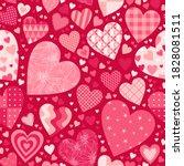 valentine's day seamless... | Shutterstock .eps vector #1828081511