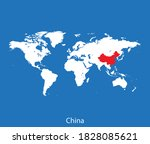 vector map of the china | Shutterstock .eps vector #1828085621