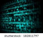matrix code copyspace showing... | Shutterstock . vector #182811797