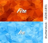 geometric fire and ice | Shutterstock .eps vector #182811851