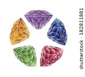 diamonds and gemstones colorful ... | Shutterstock .eps vector #182811881