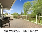 wooden deck with white and... | Shutterstock . vector #182813459