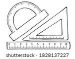 vector illustration. set of... | Shutterstock .eps vector #1828137227