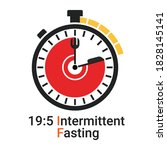 19 5 intermittent fasting  if ... | Shutterstock .eps vector #1828145141