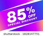 85  off sale discount banner.... | Shutterstock .eps vector #1828147751