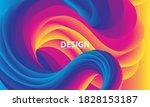 color waves background. fluid... | Shutterstock .eps vector #1828153187