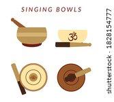 set of four tibetan singing...   Shutterstock .eps vector #1828154777