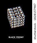 black friday sale kinetic... | Shutterstock .eps vector #1828157987
