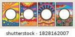 psychedelic background set ... | Shutterstock .eps vector #1828162007