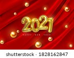 happy new 2021 year. vector... | Shutterstock .eps vector #1828162847