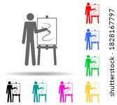 artist multi color style icon....