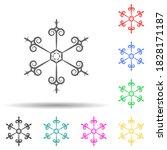 ornament multi color style icon....