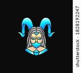 Devil Woman Logo  Illustration...