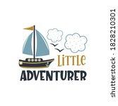 little adventurer positive... | Shutterstock .eps vector #1828210301