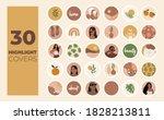 instagram highlights cover... | Shutterstock .eps vector #1828213811