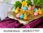 Bird Shape Thai Dumplings On...