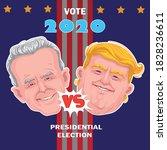 donald trump and joe biden....   Shutterstock .eps vector #1828236611