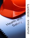 health and safety register with ... | Shutterstock . vector #182826971