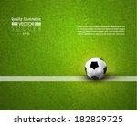 creative soccer vector design   Shutterstock .eps vector #182829725