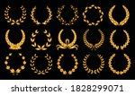 golden laurel wreath.... | Shutterstock .eps vector #1828299071