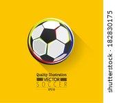 creative soccer vector design | Shutterstock .eps vector #182830175