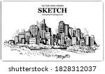 skyscrapers. big city. urban... | Shutterstock .eps vector #1828312037